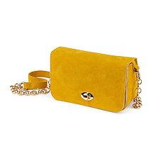 Kabelky - Multifunkčná kožená kabelka MAVERA (Žltá) - 10577294_