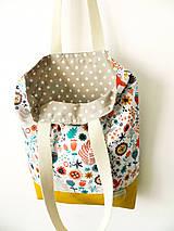 Nákupné tašky - taška folk lúčka - 10576065_