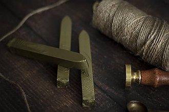 Suroviny - Pečatný vosk - Zlatá tmavá ❤ - 10576056_