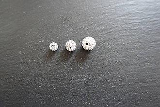 Korálky - Shamballa biela A 6-8-10mm (10mm) - 10577988_