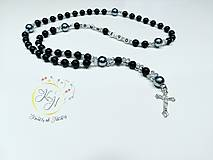 Iné šperky - Ruženec s nápisom - 10578616_