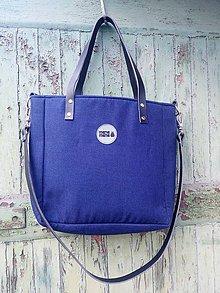 Kabelky - Malá kabelka MANA MANA Minimalistická Modrá/Černá kůže - 10577216_