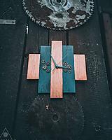 Hodiny - Rustic Clock - Dubové drevené hodiny - 10578559_