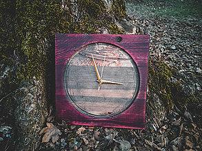Hodiny - Rose - Smrekové drevené hodiny - 10578246_