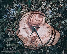 Hodiny - Artefakt 3 - Teakové drevené hodiny - 10578260_