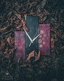 Hodiny - Steampunk - Dubové drevené hodiny - 10578587_