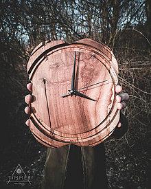 Hodiny - Artefakt - Teakové drevené hodiny - 10578634_