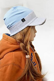 Detské čiapky - Šiltovka z jednej vrstvy bledomodrá - 10575927_