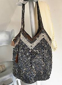 Veľké tašky - Veľká taška Adéla jeansová. - 10577143_