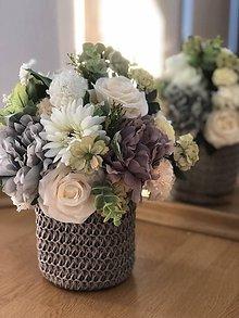 Dekorácie - Kvetinova dekoracia pivonka - 10575620_