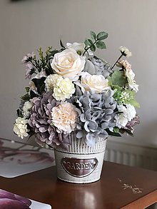 Dekorácie - Kvetinova dekoracia pivonka - 10575623_