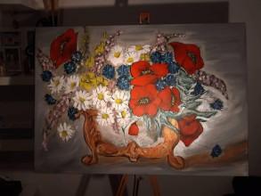 Obrazy - Rokokové kvety - 10578080_