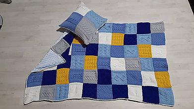 Úžitkový textil - Pathwork deka a vankúš - 10575574_