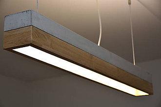 Svietidlá a sviečky - Betónové LED svietidlo - 10578027_