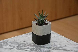 Dekorácie - Bellus betón & čierna - 10578063_