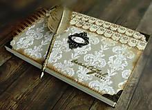 Papiernictvo - Kronika/kniha hostí/kniha hostí/svadobný album/album/svadobná kniha - 10575033_