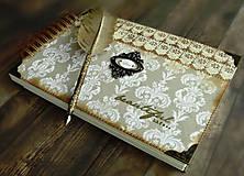 Papiernictvo - Kronika/kniha hostí/kniha hostí/svadobný album/album/svadobná kniha - 10575041_