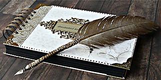 Papiernictvo - Svadobná kniha hostí,fotoalbum,kronika,kniha návštev ELEGANCIA 2 - BLACK - 10575139_