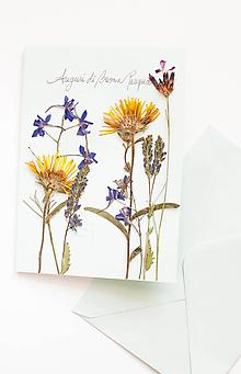 """Papiernictvo - Bylinková pohľadnica """"mint"""" - 10576469_"""