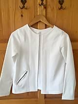 Kabáty - Bolerko z teplákoviny - 10576386_