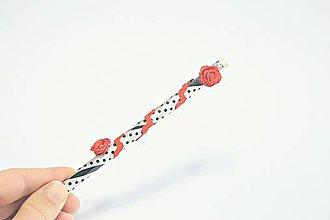 Dekorácie - Čarovná ceruzka ruže - 10577361_
