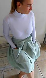 Sukne - ľanová sukňa - 10575448_