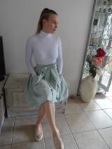 Sukne - ľanová sukňa - 10575451_