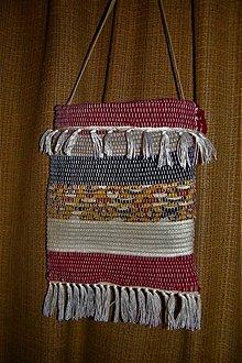 Iné tašky - Tkaná taška čierno-červeno-žltá - 10578259_