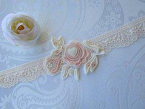 Bielizeň/Plavky - Podväzok s kvetinkou XIV - 10577745_