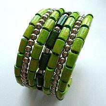 Náramky - Náramok (zelená) - 10579828_