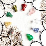 Náhrdelníky - Simple Gemstone Angel Necklace / Náhrdelník anjel s minerálom #2057 - 10578900_