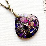Náhrdelníky - Violet Varsicite Bronze Pendant / Prívesok s fialovým variscitom #2004 - 10579872_