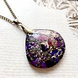 Náhrdelníky - Violet Varsicite Bronze Pendant / Prívesok s fialovým variscitom #2004 - 10579873_
