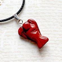 Náhrdelníky - Simple Gemstone Angel Necklace / Náhrdelník anjel s minerálom #2057 (Červený jaspis) - 10578906_