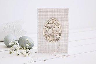 Papiernictvo - Veľkonočný pozdrav - vajíčko so sliepočkou - 10581185_