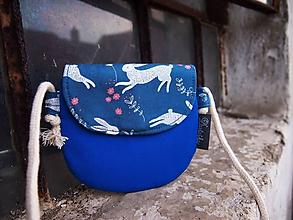 Detské tašky - Detská taštička - zajaci na obj. - 10578950_