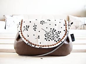 Kabelky - Natur kabelka - vetvičky so sivohnedou - 10580280_