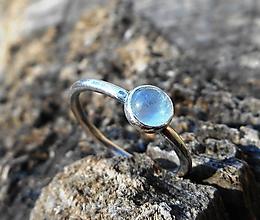 Prstene - Strieborný Prsteň s Akvamarínom - 10580600_