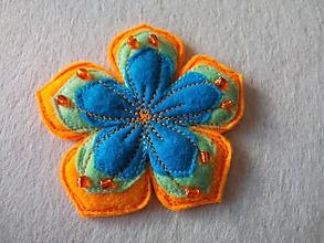Odznaky/Brošne - Brošňa ibištek (svetlooranžová) - 10582419_