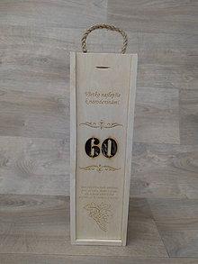 Krabičky - Gravirovana krabica na víno - 10579304_