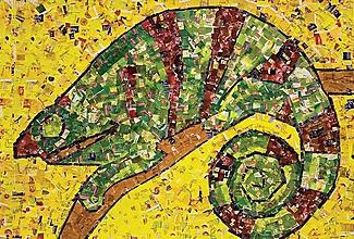 Papiernictvo - Andreas: Pohľadnice - zvieratá (Chameleón) - 10581045_