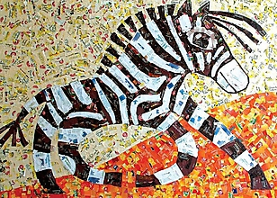 Papiernictvo - Andreas: Pohľadnice - zvieratá (Zebra) - 10581048_