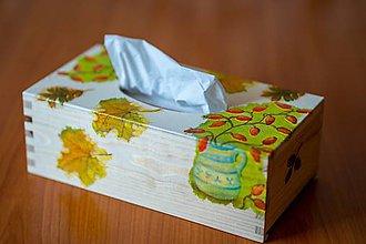 Krabičky - Usmej sa na mňa: Škatuľa na vreckovky (Jeseň) - 10581156_