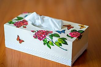 Krabičky - Usmej sa na mňa: Škatuľa na vreckovky (Ruža) - 10581157_