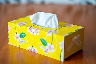 Krabičky - Usmej sa na mňa: Škatuľa na vreckovky (Čerešňový kvet) - 10581159_