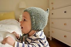 Detské čiapky - Detská čiapka škriatok alpaka - 10578749_