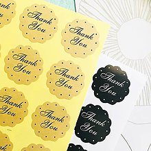"Papier - ozdobné papierové nálepky ""Thank you"" (4 ks) - 10579208_"