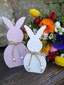 Dekorácie - veľkonočná dekorácia - zajačiky - 10581448_