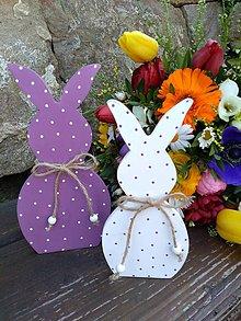 Dekorácie - veľkonočná dekorácia - zajačiky - 10581472_