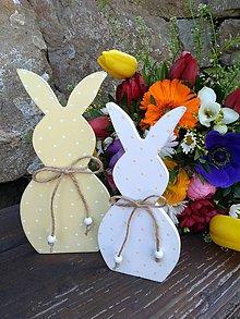 Dekorácie - veľkonočná dekorácia - zajačiky - 10581527_